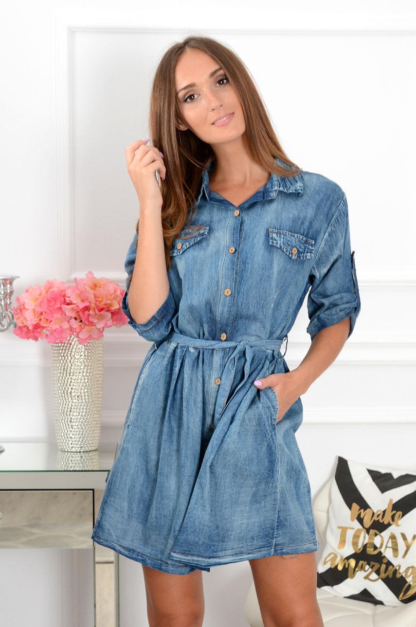 c046cbae94 Sukienka jeansowa rozkloszowana Joana - Cocomoda.pl - odzież ...