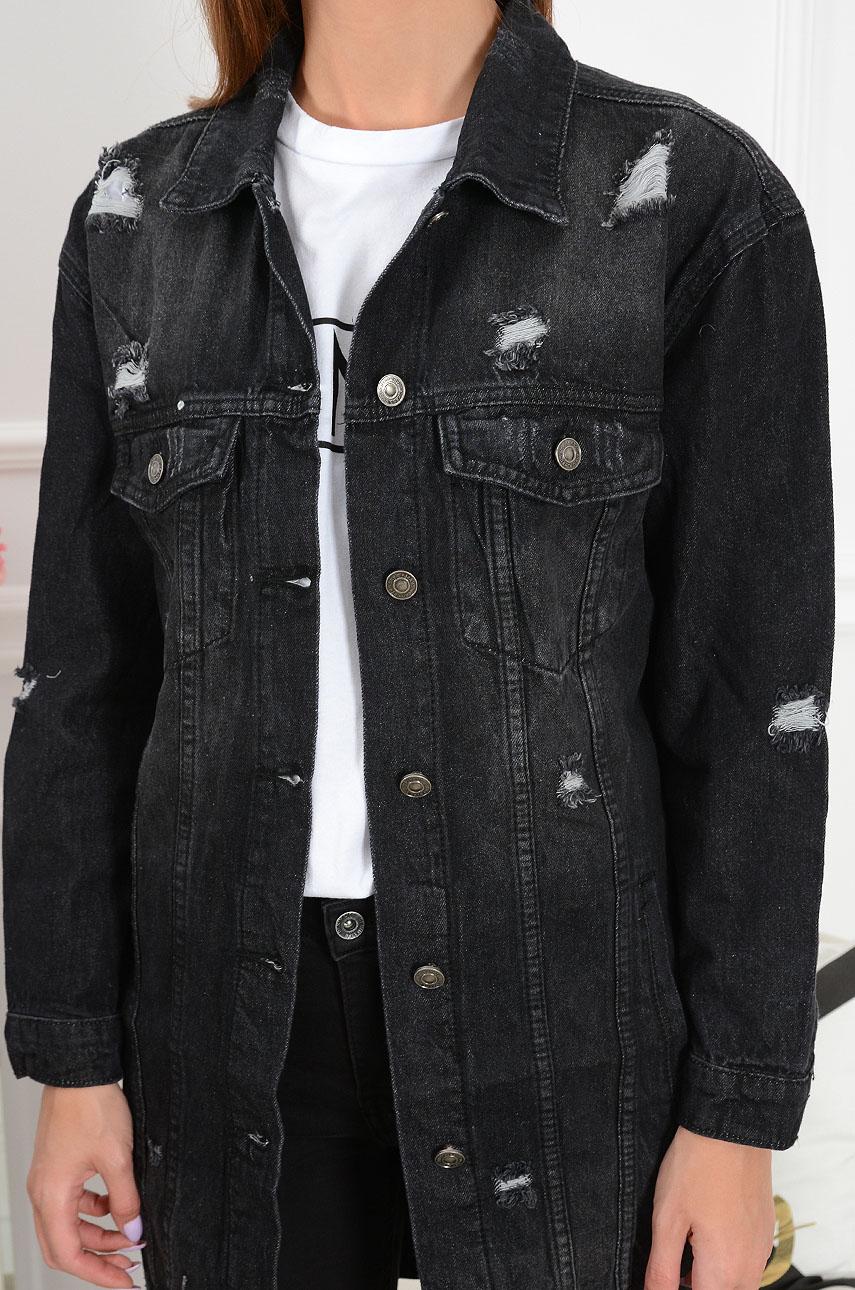 czarna kurtka typu katana damska