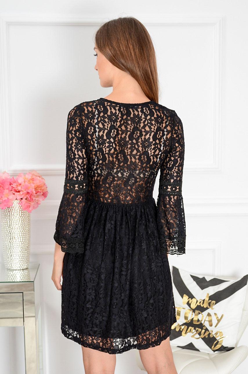 28fb9d583 Sukienka koronkowa boho czarna Malta Sklep internetowy cocomo...