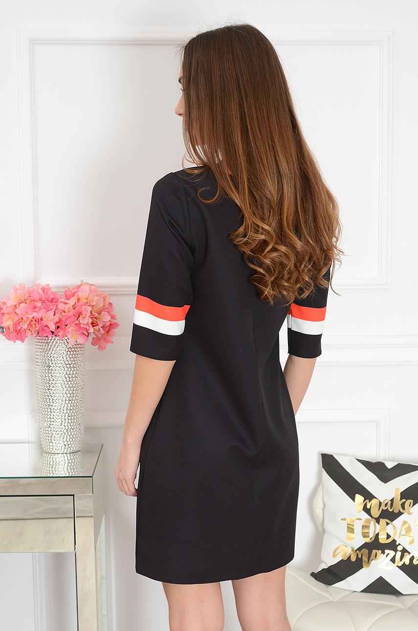 e2a427902d Sukienka trapezowa geometric czarna. Sklep internetowy cocomo...