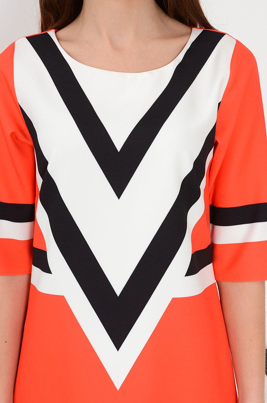 59ef5ff20f Sukienka trapezowa geometric czerwona. Sklep internetowy coco...