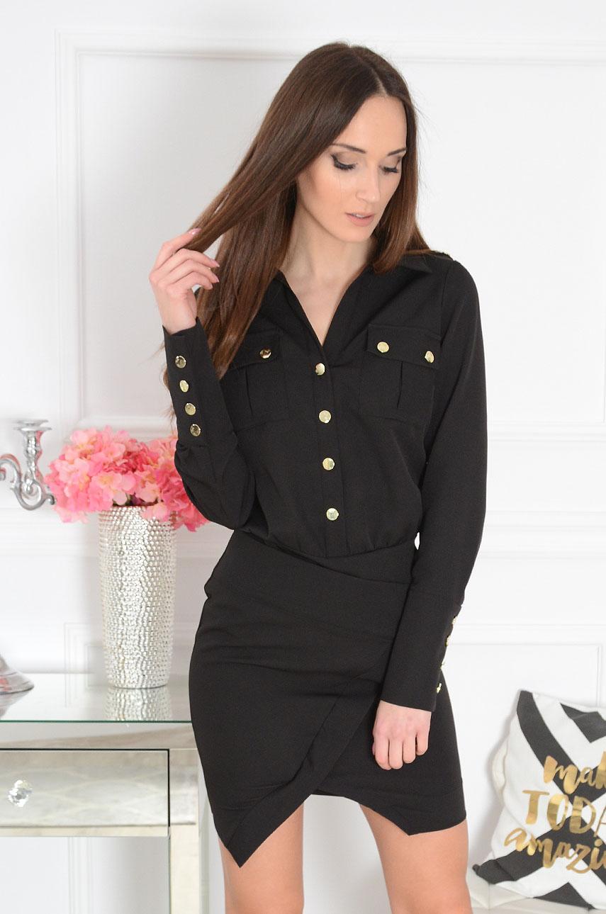 Sukienka asymetryczna czarna Lamiko Rozmiar: M