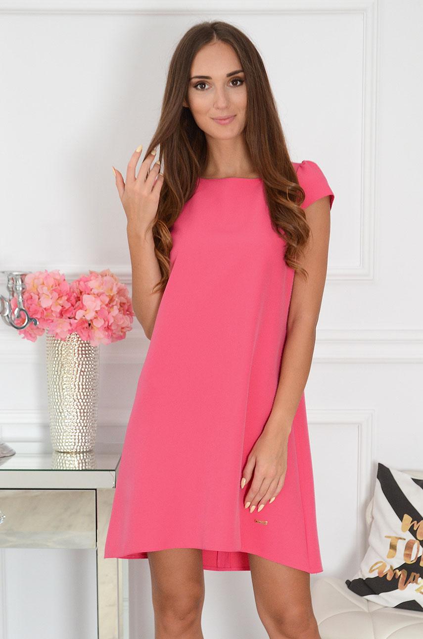 Sukienka z łezką dłuższy tył amarant New Rozmiar: S