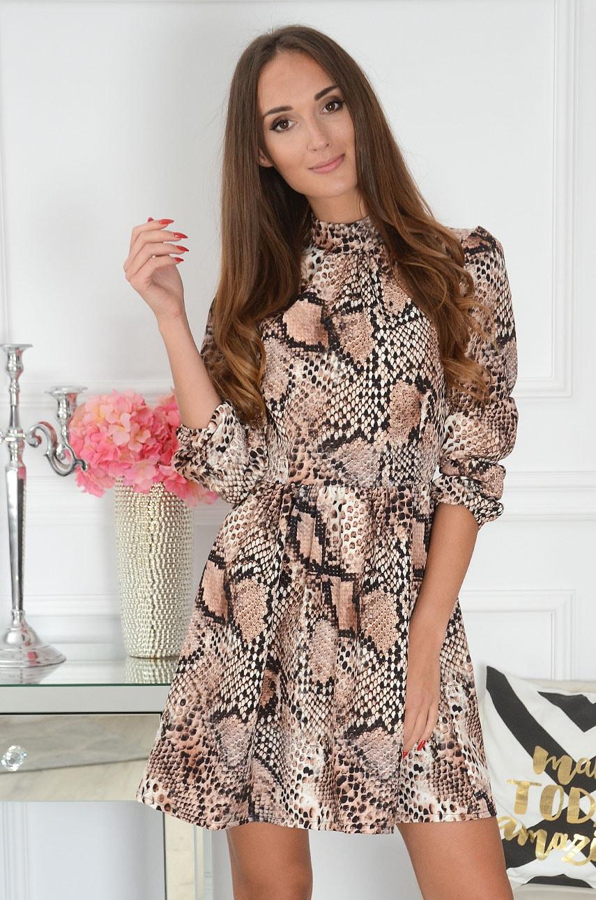 Sukienka wężowa kamel Chloe Rozmiar: UNI