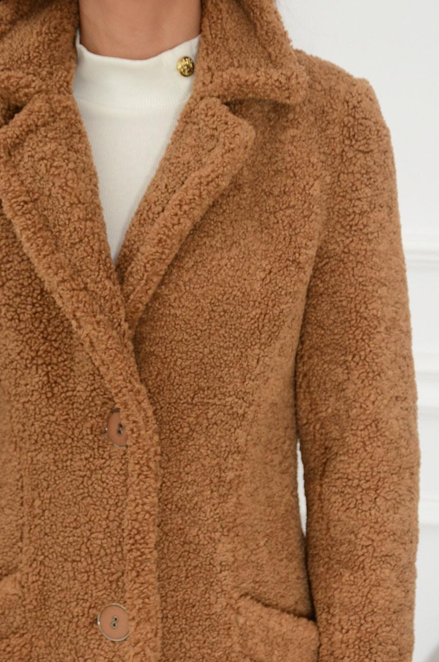 Płaszcz baranek kamel Pekin
