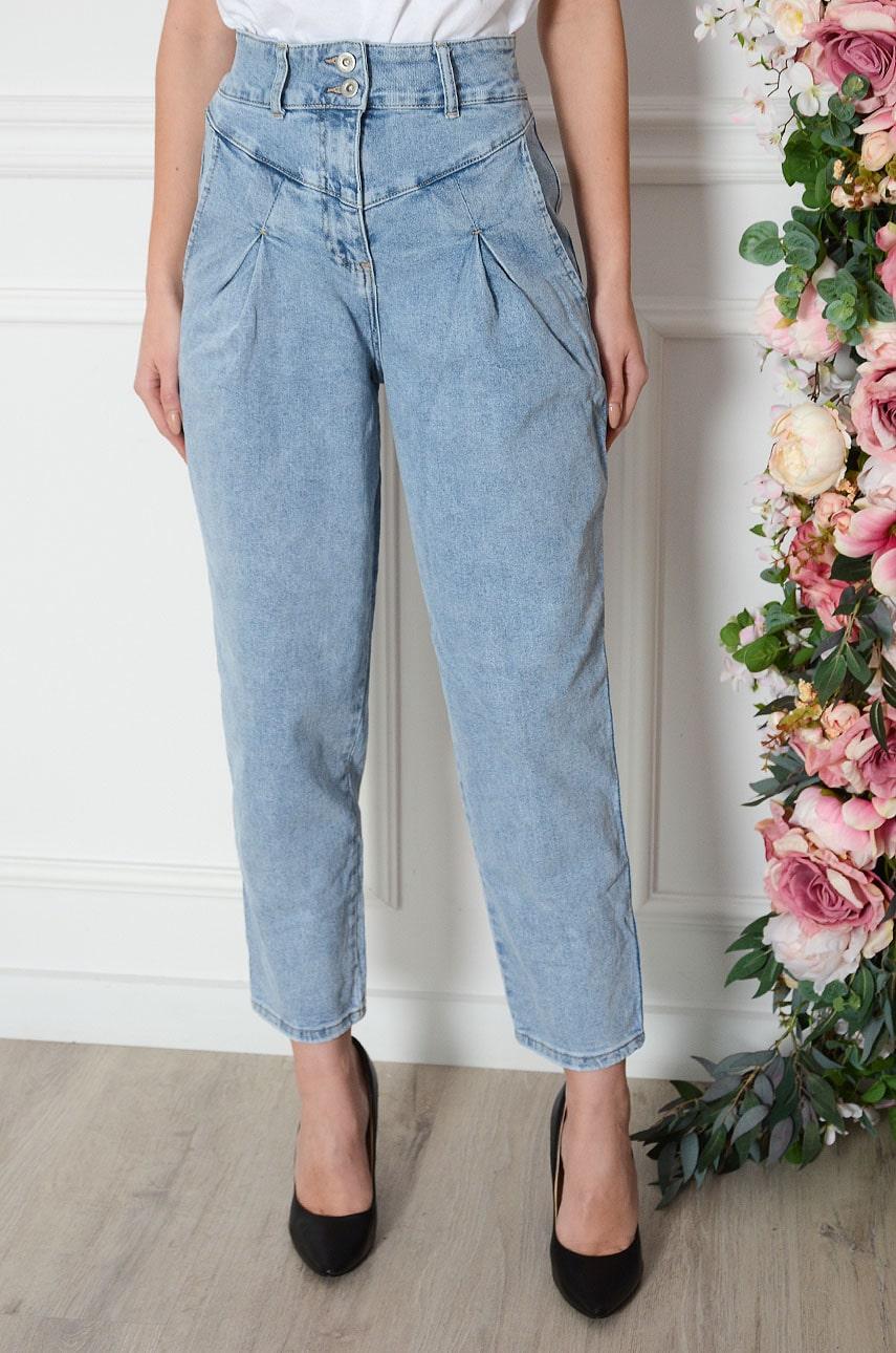 Spodnie mom jeans z zaszewkami Kella Rozmiar: XS