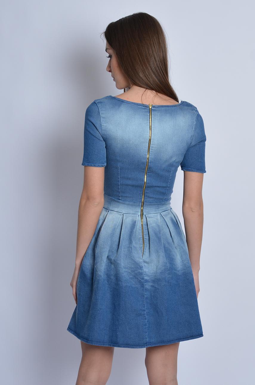 c8d61a40ea Sukienka jeansowa rozkloszowana - Cocomoda.pl - odzież damska...