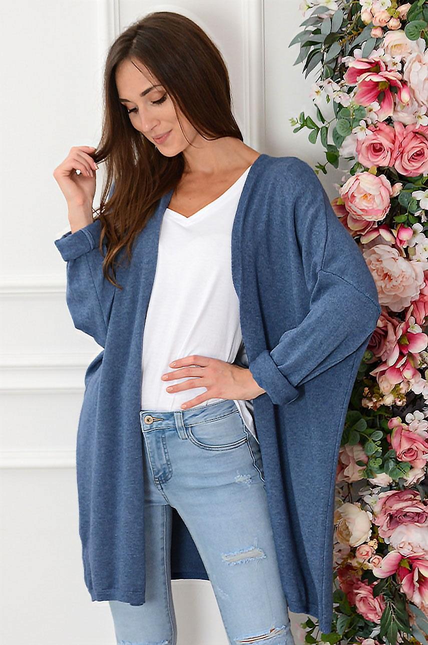 Sweter kardigan dzianinowy jeans Maryland Rozmiar: UNI